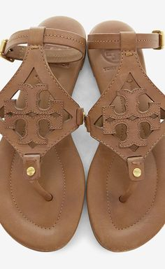 Tory Burch Tan Flat Sandal