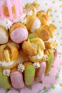 Pièce montée choux et éclairs Wedding cake