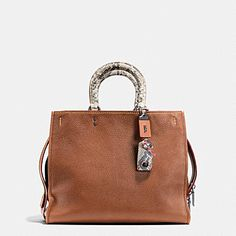 f37ac0a67427 ROGUE BAG 36 IN COLORBLOCK PYTHON Coach Shoulder Bag