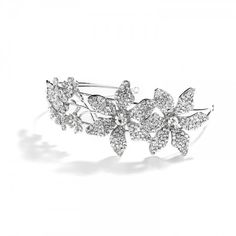 Floral CZ Bridal Headband Percy | Cubic Zirconia Wedding Hairband