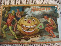 Tuck Post Card Halloween RARE Postmarked 1916   eBay