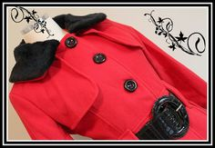 Black & Red Hot Ladies Coat by kimberleighdesigns on Etsy, $65.00