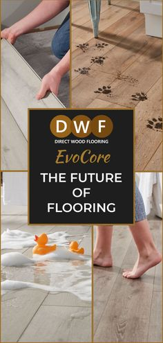 EvoCore: The Future of Flooring Direct Wood Flooring, Floors Direct, Stress Free Jobs, Vinyl Board, Welcome To The Future, Waterproof Flooring, Grey Oak, Wood Patterns, Real Wood