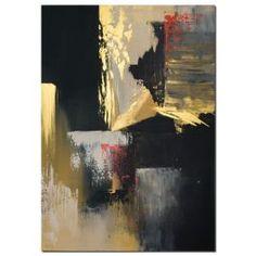 Wandbilder abstrakt Gold Rush als handgemaltes Wandbild Wandbild mit den Farben Gold Rot Beige und Schwarz