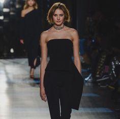 Dutch Model Sanne Vloet NYFW Fall 2017 cushnie et och