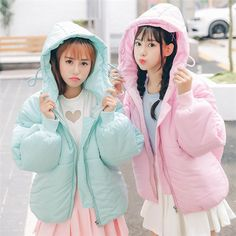 """Sweet candy color students hoodie cotton coat SE9311   Coupon code """"cutekawaii"""" for10% off"""