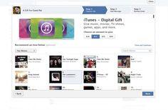 Facebook comienza a vender tarjetas regalo de iTunes