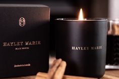 Hayley Marie Black Winter Collection. Spiced Mulled Wine candle.