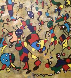 Miro's Lovers, 50x50, acrylic on canvas, June 2015