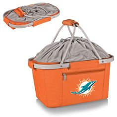 The Miami Dolphins Metro Basket Tote by Picnic Time