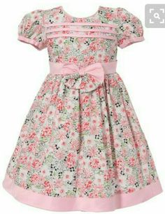 Another great find on Pink Floral Bow Puff-Sleeve Dress - Infant & Toddler by Richie House Kids Frocks, Frocks For Girls, Little Girl Outfits, Little Girl Fashion, Little Dresses, Little Girl Dresses, Cute Dresses, Kids Outfits, Kids Fashion