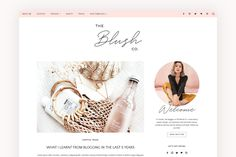 Blush Co. is a fully responsive, stylish and feminine WordPress Theme with endless possibilities! It is especially designed for Fashion, Beauty and Lifestyle Header Banner, Web Themes, Instagram Bio, Social Media Icons, Blog Design, Design Trends, My Boutique, Premium Wordpress Themes, Lifestyle Blog