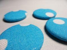Anstecker Dots Forever, Upcycling von Leesha Design
