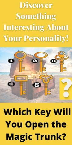 And after choosing the key, uncover what your choice says: Spiritual Psychology, Something Interesting, Awakening, Personality, Trunks, Spirituality, Magic, Key, Drift Wood