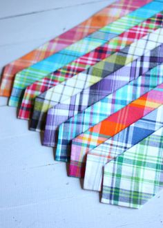 The Beau preppy plaid collection neckties by thebelleandthebeau, $22.00