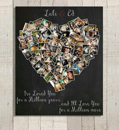 DIY- Memory photo heart collage. | DIY ideas | Pinterest