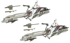 Star Wars 375 Inch Scale Battle Pack  Clone Wars Speeder Bike Recon -- Click image to review more details.Note:It is affiliate link to Amazon. #tagblender