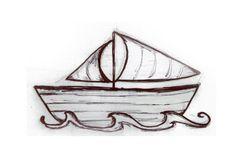 sailboat and waves