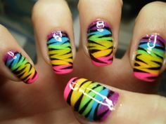Colorful Abstract Nail Art Design
