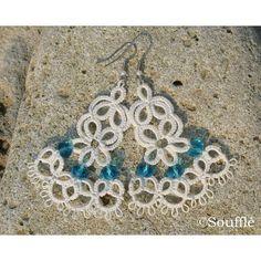 """#souffle_accessories #handmade #jewelry #accessories #creative #art #live #gift #tatting #lace #tattinglace #earrings #frivolite #fashion #ручнаяработа…"""