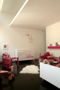 sheepskin rug in kids' room