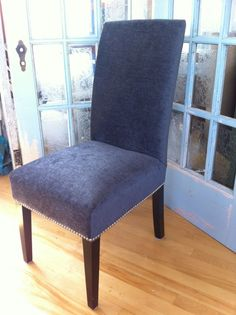 How To Reupholster A Dining Room Chair Seat And Back Cool Reupholstering Parsons Chairs  Dining Room  Pinterest Inspiration