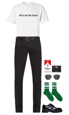 """""""#ForMen: Graphic Tees"""" by styledbymutiara ❤ liked on Polyvore featuring Acne Studios, Maison Margiela, Gucci, Eytys, Oliver Peoples and Thom Browne"""