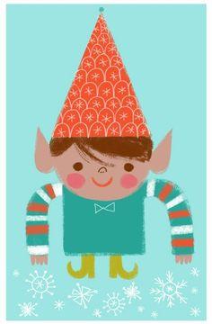 Twinkle Toes Elf #2 (Red Hat)  by Sarah Walsh