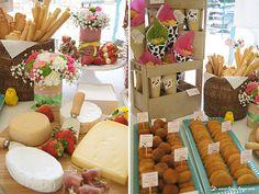 The cheese board and savory details. Lima Limão - festas com charme