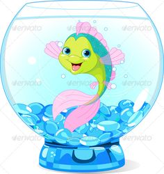 Cute Cartoon Fish in Aquarium. Illustration of Cute Cartoon Fish in Aquarium , Cute Cartoon Fish, Cartoon Sea Animals, Drawing Competition, Cute Octopus, Silly Pictures, Water Animals, Cute Clipart, Little Critter, Beautiful Drawings