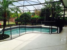 Protecting children from pool accidents all over Volusia County with Baby Barrier Pool Safety Fence.  #PoolFence