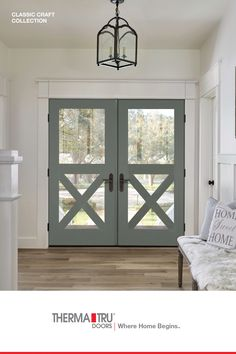 Enhance your Modern Farmhouse look with the warmth and simplicity of our Classic-Craft Shaker-style doors. A variety of styles with premium divider bars allow you to create a welcoming entryway that elevates the look of your home, inside and out. Style Shaker, Shaker Style Doors, Home Renovation, Home Remodeling, Modern Farmhouse, Farmhouse Decor, The Doors, Front Doors, House Colors