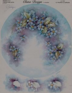 Blue-Forget-me-Nots-China-Painting-Study-10-by-Wanda-Clapham-1978-line-drawings