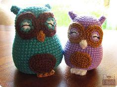 Happy Amigurumi Owls.  #owl #amigurumi #crochet