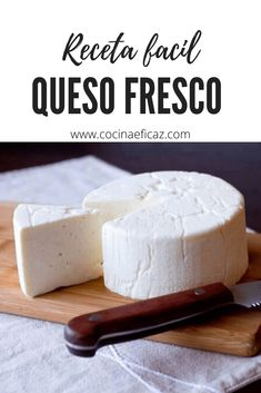 Queso Fresco Recipe, Comida Diy, Breakfast Recipes, Dessert Recipes, Flan, Lean Cuisine, Cheese Maker, Queso Cheese, Best Mexican Recipes