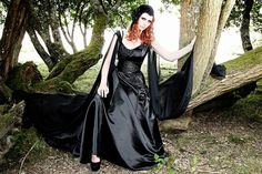 Gothic Black wedding dress. Dark Angel