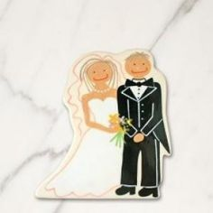 Celebrate your wedding day and every happy anniversary with the Bride and Groom Big Attachment. Personalize with your name and wedding date for a meaningful keepsake. Simply Velcro® to a Happy Everything Big Platter (our Original size)or any other Big Base and you're ready to get Happy!