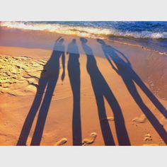 shadow pictures on the beach