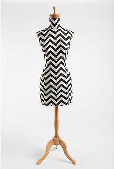 Zig Zag Wood Base Dress Form    $300.00