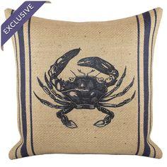 Newport Crab Pillow