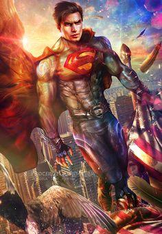 #Superman #Fan #Art. (Superman - Indissoluble Paragon) By: Malcolm Scot Newton. (MAJOR ÅWESOMENESS!!!) [THANK U 4 PINNING!!]