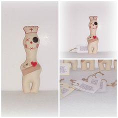 "Karma Nurse DAMMIT Doll ""De-Stress Nurse Doll"" College Student Gift OR For Nurse - Nurse Art Doll NDD#13 by SheCollectsICreate on Etsy"
