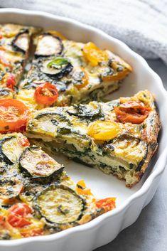 Veggie Dishes, Veggie Recipes, Vegetarian Recipes, Cooking Recipes, Healthy Recipes, Vegetarian Quiche, Dairy Free Quiche Recipes, Zucchini Quiche Recipes, Gluten Free Quiche