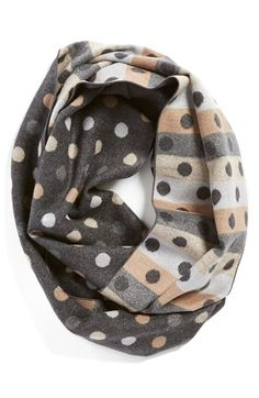 chelsey dot print silk infinity scarf available at nordstrom