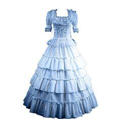 Partiss Damen Kurzaermel Kleid Gotische Viktorianische Lolita Ballkleid Ruffles Abendkleid mit Lace Partiss http://www.amazon.de/dp/B01680E9E8/ref=cm_sw_r_pi_dp_ltgiwb1J6SGWS