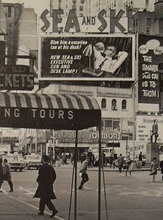 Times Square 1960's NYC Broadway at 46th Street Vintage New York City