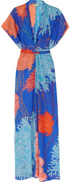 Issa Printed Silk Kimono Maxi Dress, I'm trying to find a pattern for something similar to make myself.