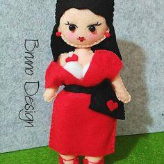 Bambola fatta a mano - Hobby Puppets - bambolina feltro di BrunoDesign74 su Etsy