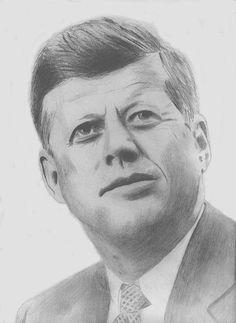 JFK - a pencil sketch.