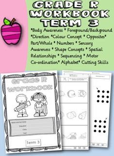 Grade R Workbook Term 3 - School Diva Preschool, Positivity, Relationship, Concept, Shapes, Education, Life, Kid Garden, Kindergarten